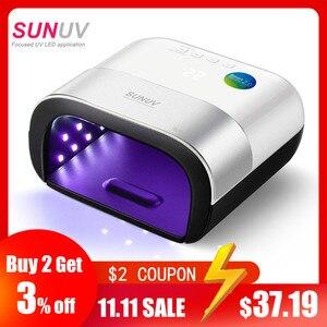 Image 1 - Sunuv SUN3 Nail Droger Smart 2.0 48W Uv Led Lamp Nagel Met Smart Timer Geheugen Onzichtbare Digitale Timer Display nagel Droogmachine