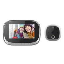 4.3 인치 LCD 컬러 스크린 디지털 초인종 120 학위 전자 틈 구멍 카메라 뷰어 PIR 야간 야외 도어 벨