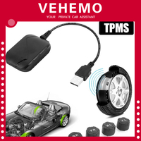 TPMS Wireless USB Android Tire Pressure Monitoring System 4 Sensors Display Alarm System Internal Sensors Android Navigation