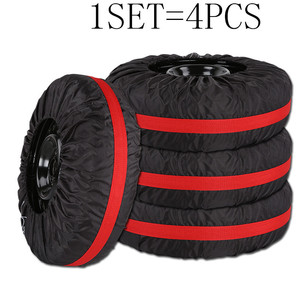 Image 4 - 4Pcs/Lot Car Spare Tire Cover Case Polyester Auto Wheel Tires Storage Bags Vehicle Tyre Accessories Dust proof Protector Styling