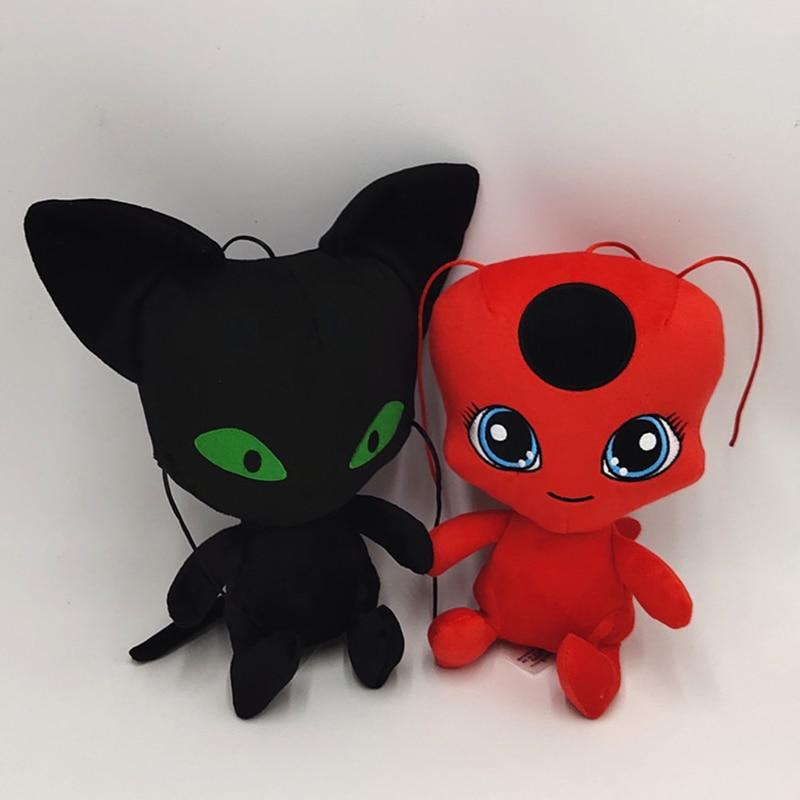 25-30cm New Ladybug Plush Doll Soft Fill Cartoon Anime Plush Doll Child Birthday Christmas Gift For Kids WJ574