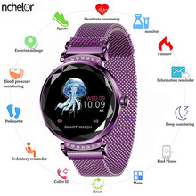 Hot Sales Fashion H2 Smart Watch 3D Rhinestone Glass Heart Rate Sleep Monitor Best Gift for Girl Women Smartwatch Quartz Watch(China)