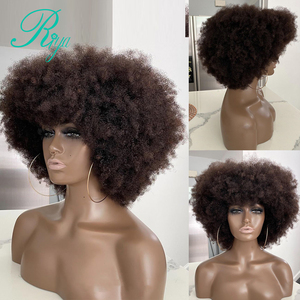 4X4 Lace Closure Wig 150% Pixie Short Afro Kinky Curly Bob Cut Blunt Lace Front Human Hair Wigs For Black Women Remy Brazilian