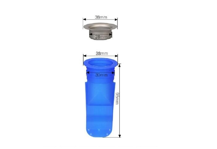 Домашний дренажный клапан, силиконовый кухонный фильтр, труба для ванной, канализационный слив, анти-запах, вредитель, пол из нержавеющей стали, слив HN27 - Цвет: HNS28  D