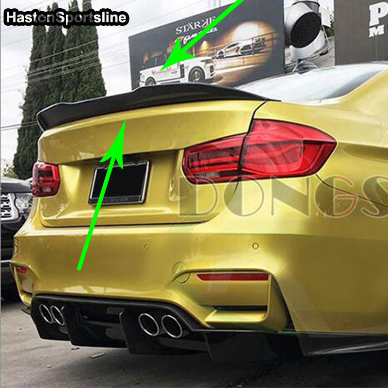Image 2 - F36 Grand Coupe 4Door PSM Style Carbon Fiber Auto Car Rear Trunk Spoiler Wing for BMW F36 2014 2017trunk spoiler wingspoiler wingtrunk spoiler -