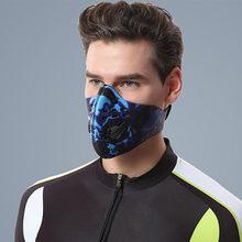 Anti máscaras de poeira meia máscara facial para tampões de boca máscara pode colocar filtro de carbono ativo pm2.5 proteção respirador reutilizável # m5