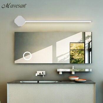 9-17w أضواء مرآة الحائط مصباح Led الحمام الأسود/الأبيض الحديثة ماكياج خلع الملابس مرآة الحمام أدى تجهيزات الإضاءة