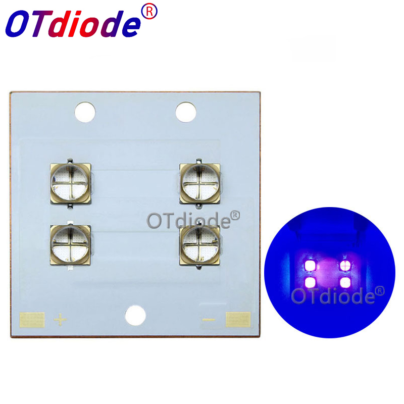 LG UV Purple LED Ultraviolet Bulbs Lamp Chips 40W80W 6565 365nm 395nm 405nm COB Module 40*40 Copper Board for 3D Printer DIY