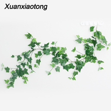 160-210cm Wedding Ceiling Winding Road Layout Rattan Hotel Window Decor Artificial Plants Willow Maple Vine Faux Foliage Wreath