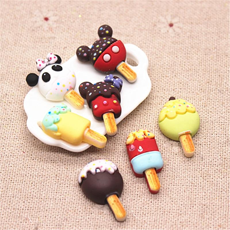 20pcs Hand Painted Resin Kawaii Colorful Lollipop Flatback Cabochon Simulation Food Art Supply Decoration Charm Craft,high 24mm Figurines & Miniatures  - AliExpress
