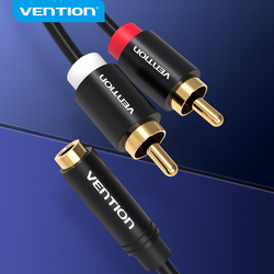 Vention Female 3.5mm Jack to 2RCA Male Audio Cable RCA Jack Splitter Y Cable For iPhone Amplifier Home Theater DVD Headphone AUX