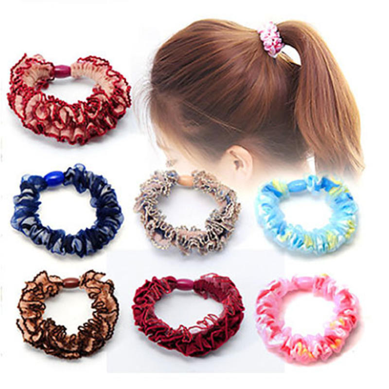 New Fashion Korean Style Lace Hair Band Head Rope Rubber Accessories Women Small Jewelry Arrive Hot Sale