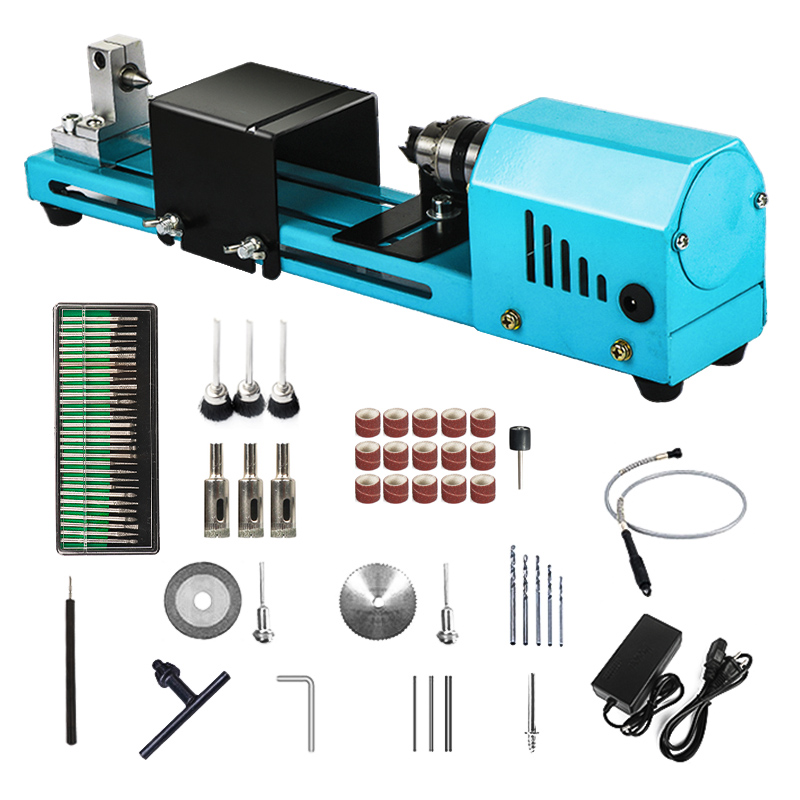 150W Mini Lathe Beads Machine Miniature Buddha Pearl Lathe DIY Woodworking Buddha Pearl Lathe Machine Drill Rotary Tool 12V/24V