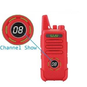 Image 2 - 2pcs custodia in pelle WLN di KD C1 più Mini Walkie Talkie UHF 400 470 MHz Con 16 Canali Two Way Radio FM ricetrasmettitore KD C1 Più