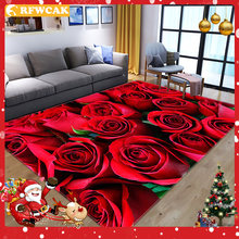 Rfwcak домашний 3d цветок розы гостиная спальня столовая нескользящее