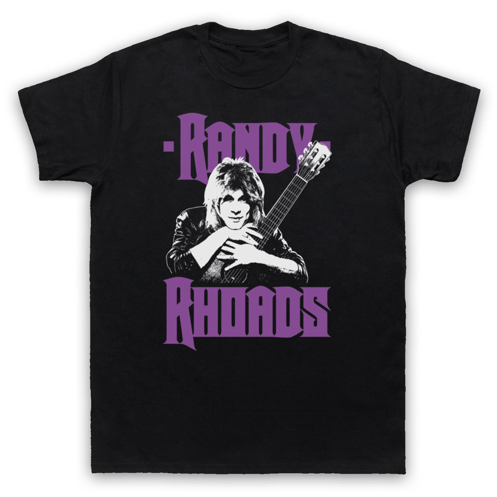 <font><b>RANDY</b></font> <font><b>RHOADS</b></font> HEAVY METAL ROCK GUITAR HERO UN T-Shirt ADULTS Mens SIZES Tee Shirt Top Quality Tops image