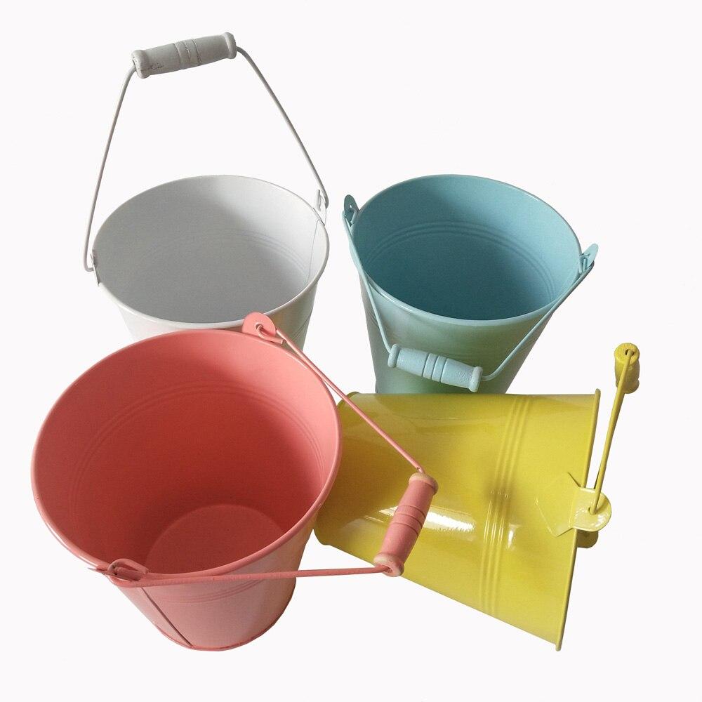 4 sztuk/partia D15 * H15CM kolorowe metalowe wiadra sadzarka do kwiatów żelazne wiadra soczyste doniczki dom wiadra Ornament w Doniczki i skrzynki do kwiatów od Dom i ogród na  Grupa 1