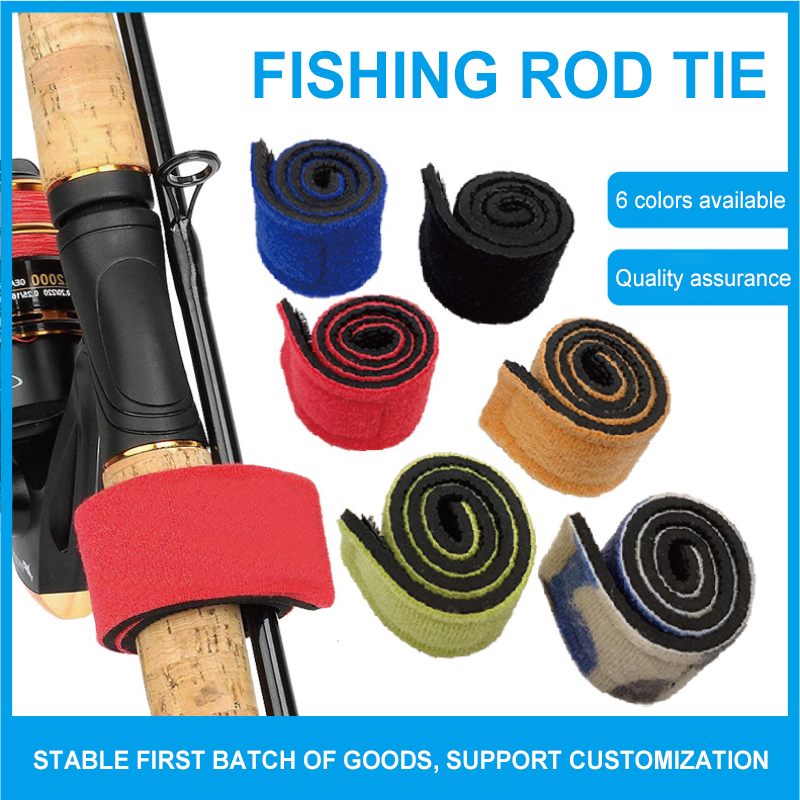 Fishing Rods Belt Stretchy Rod Straps Fishing Tackle Ties Cable Fishing Rod Holders Fit for Casting Rods, Spinning Rods Fly Rods