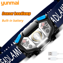 Powerful Headlamp Body-Motion-Sensor Camping-Torch Rechargeable 6000lm with USB