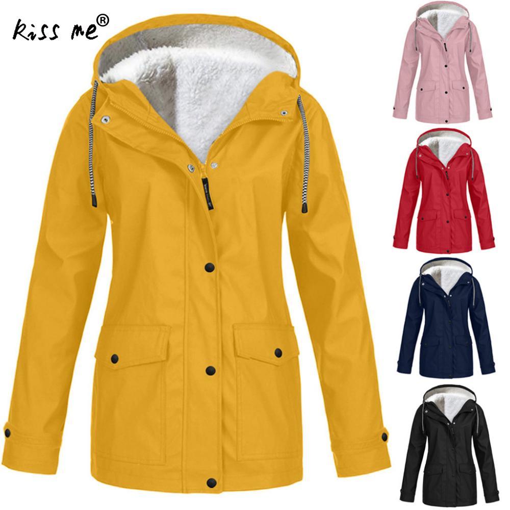 Plus Size Women Outdoor Jacket Fleece Softshell Jacket Hunting Windbreaker Hiking Rain Camping Fishing Tactical Clothing