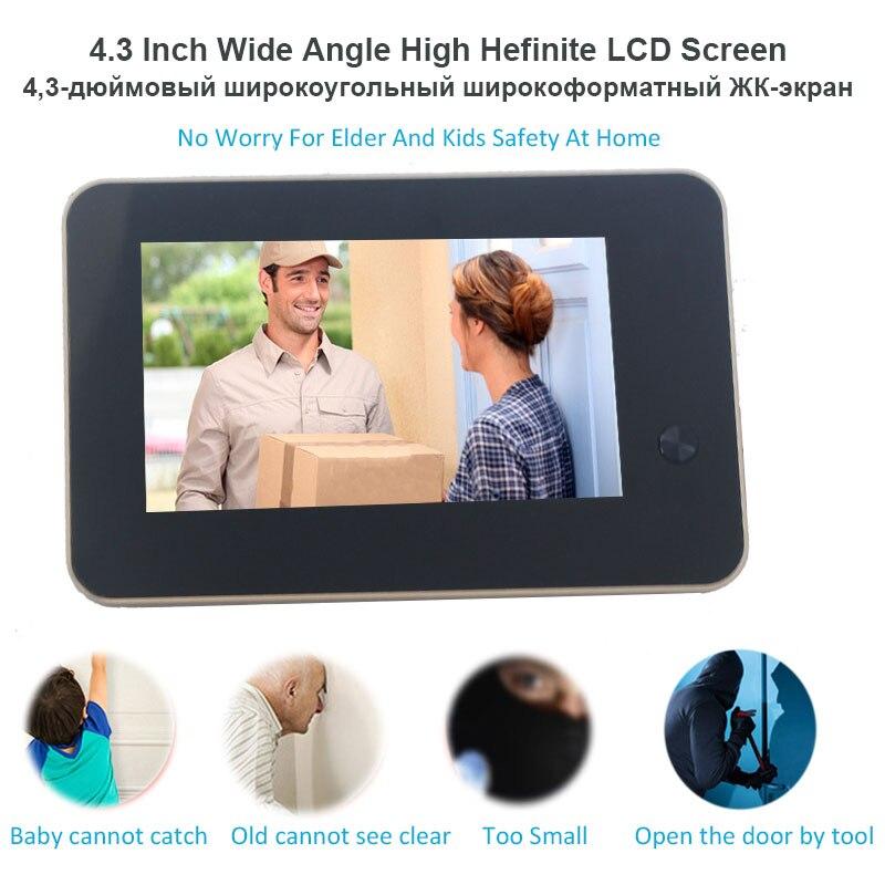 Image 4 - Topvico Wifi Doorbell Camera Video Peephole Door Intercoms 4.3 Inch Motion Detection Wireless Door Viewer Video eye Smart Ring-in Doorbell from Security & Protection