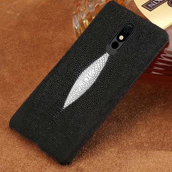 100% Genuine Stingray Leather Phone case For LG Stylo 5 Luxury Back Cover for LG Stylo 4 V40 V50 G7 G8 ThinQ G8s ThinQ G6 G5 Q6