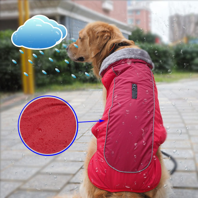 Fur Collar Dog Clothes Waterproof Winter Pet Coat Jacket