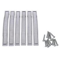 6 x Crystal Furniture Handle Bar Grip Handle Kitchen Cabinet Drawer Door Handles Silver 128mm|Cabinet Pulls| |  -