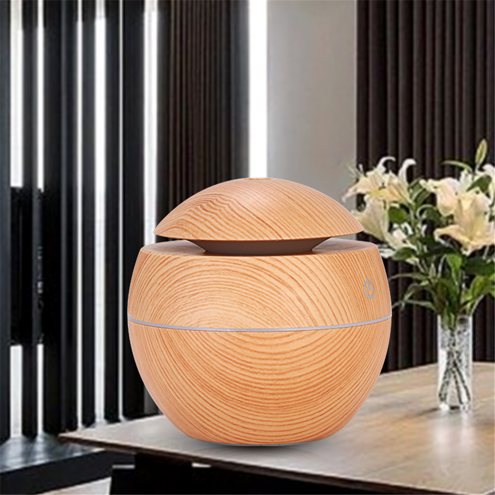 Essential Oil Diffuser, Ultrasonic Aromatherapy Diffuser With LED Lights, 130ml Diffusers For Essential Oils, Air Humidifier