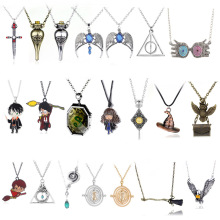 Pendant Necklace Jewelry Turner Hourglass Magic-Wand Hermione Snitche Death Harries Potter-Time