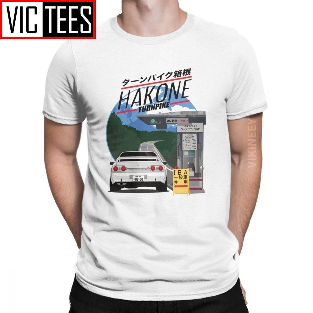 남성 T-셔츠 하코네 스카이 라인 R32 GTR 빈티지 코튼 이니셜 D JDM T 셔츠 Homme Camisas Hombre Classic