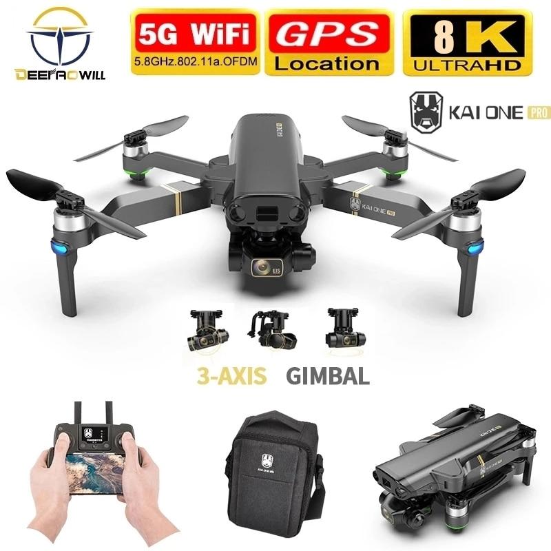 2021 Новый KAI ONE Pro Drone 8k HD механические 3-осевому гидростабилизатору двойной Камера 5G Wi-Fi GPS профессиональной аэрофотосъемки радиоуправляемого ...