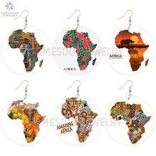 Изумительные деревянные серьги somesoor с африканскими принтами