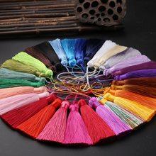 10 unidades/pacote 15cm cores clássicas pendurar corda borlas diy artesanato bookmark cortina saco de jóias franja guarnição traje decoração acessórios