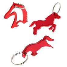 3 стиль алюминиевая лошадь шаблон открывалка для бутылок брелок сумка кулон-красный