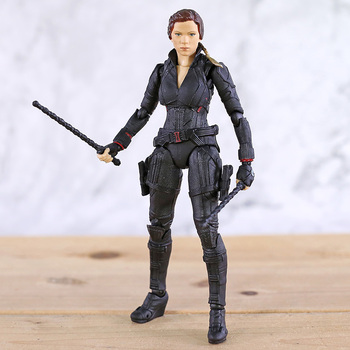 SHF Avengers 4 Endgame Black Widow PVC Action Figure Collectible Model Toy 1