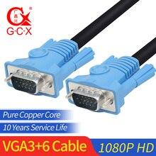цена на GCX Cable VGA to VGA Cord High Quality Full HD 1920*1080P Male to Male Computer Cable VGA Cable 1.5m 3m 5m 10m 15m 20m 25m 30m