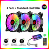 COOLMOON 120mm Colorful Cool 5V ARGB CPU Cooling Fan LED AURA SYNC 6pin Cooler Fan Mute Adjustable PC Case fan With Controller
