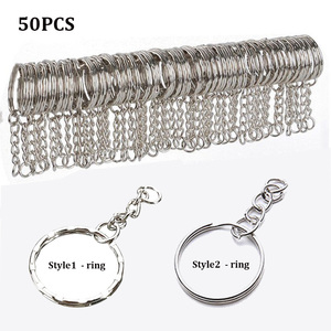 10/50pcs Polished Silver Blank Keyrings Keychains Split Rings Keyfob Pendant Holder Ring Home DIY Jewelry Accessories(China)