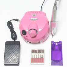 Electric nail rig 35000 rpm manicure pedicure drill and accessories tool kit