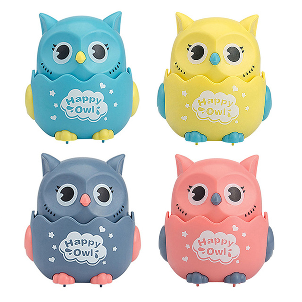 2PC Pressing inertial sliding 1 owl &1 snail toy freewheeling animals Kindergarten Children's Gift for Kids Educational toys 2