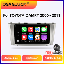 Android 8.1 Car Radio For Toyota Camry 7 XV 40 2006-2011 Multimedia Player 2 Din 2G+32G GPS navigation DSP RDS Head Unit+Frame
