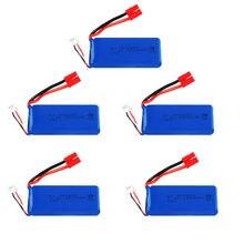 5 pces 7.4v 903480 brinquedos bateria para syma x8c x8w x8g rc zangão peças 7.4v 2500mah lipo bateria 25c banana plug