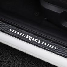 4 pièces autocollants de voiture garde de seuil de porte pour Kia Rio 3 4 K2 K3 x-line seuil de porte de voiture