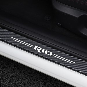 4PCS Adesivi Per Auto Porta Soglia Guard Per Kia Rio 3 4 K2 K3 X-Linea Portello di Automobile Del Davanzale piatto dello Scuff Pedale di Copertura Trim Accessori Auto(China)