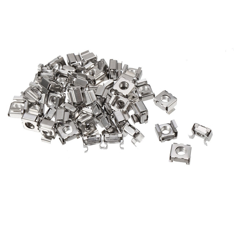 35 pcs 304 Stainless Steel M5 Mounting Cage Nut for Server Shelf Cabinet|Nuts| |  - title=