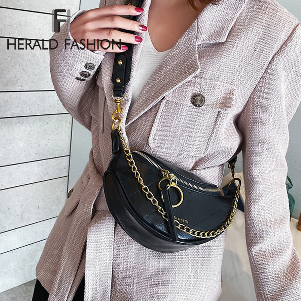 Brand Design Chain Women Shoulder Bag Fashion Casual Female Bust Messenger Crossbody Bag Travel Money Phone Purse Lady Handbag