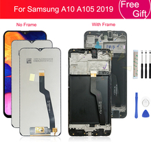 For Samsung galaxy A10 lcd Digitizer A105/DS A105F A105FD A105M Display Touch Screen with frame Digitizer For Samsung A10 lcd