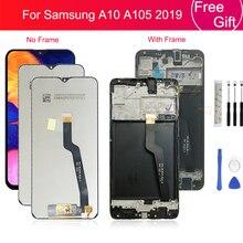 ЖК экран с дигитайзером для Samsung galaxy A10 A105/DS A105F A105FD A105M, сенсорный экран с рамкой для Samsung A10