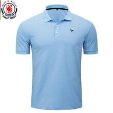 Fredd מרשל 2020 אביב חדש קלאסי מוצק פולו חולצה 100% כותנה קצר שרוול מזדמן כחול פולו חולצות Homme בסיסי חולצות 054